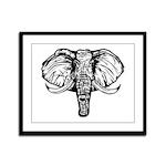 Elephant Framed Panel Print
