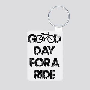 Good Day For A Ride Aluminum Photo Keychain