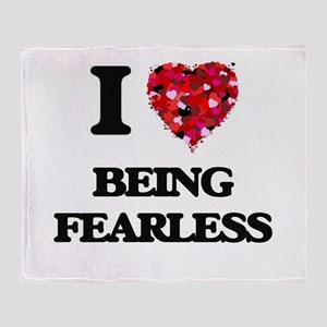 I Love Being Fearless Throw Blanket