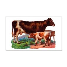 Cow And Calf Wall Decal