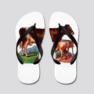 Cow And Calf Flip Flops