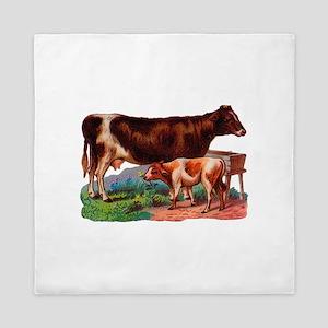Cow And Calf Queen Duvet