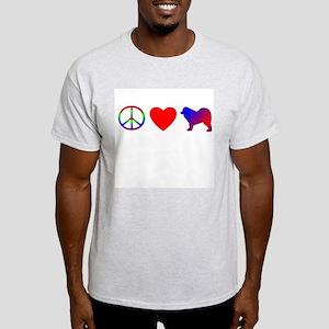 Peace, Love, Samoyed Light T-Shirt
