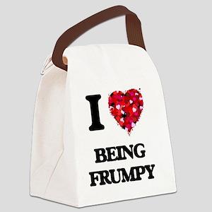 I Love Being Frumpy Canvas Lunch Bag