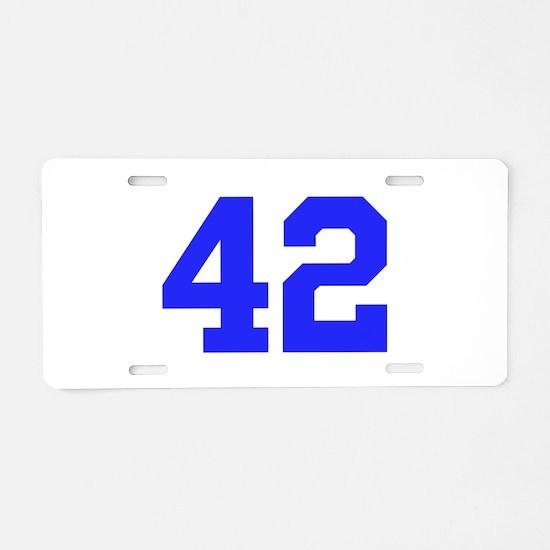 42 Aluminum License Plate