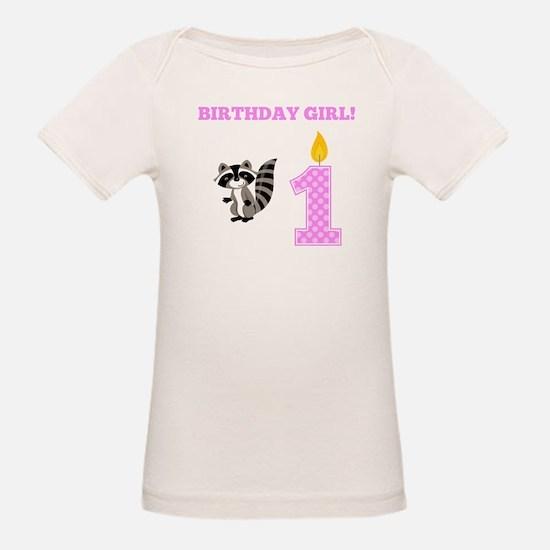 Birthday Girl Raccoon T-Shirt