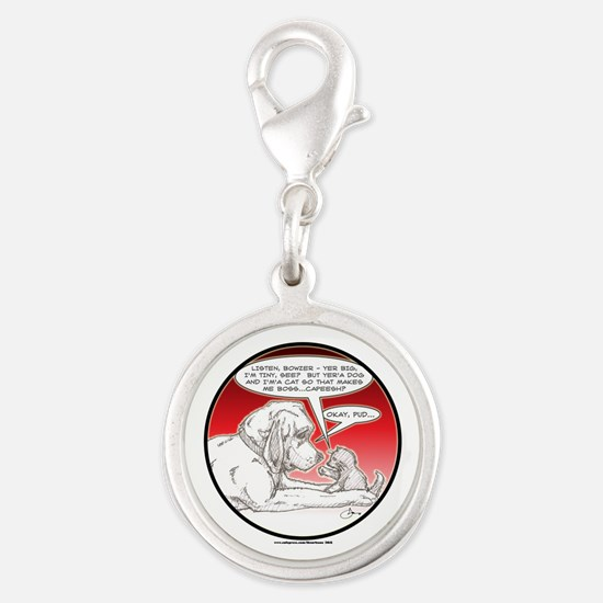 NEW! Bowzer and Pud Silver Round Charm