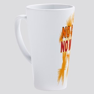 NO COFFEE NO WORKEE 17 oz Latte Mug