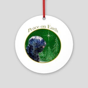 Black Russian Peace Ornament (Round)