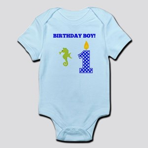 Birthday Boy Seahorse Body Suit