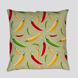 Raining Peppers Everyday Pillow