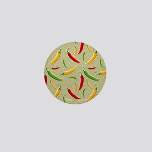 Raining Peppers Mini Button