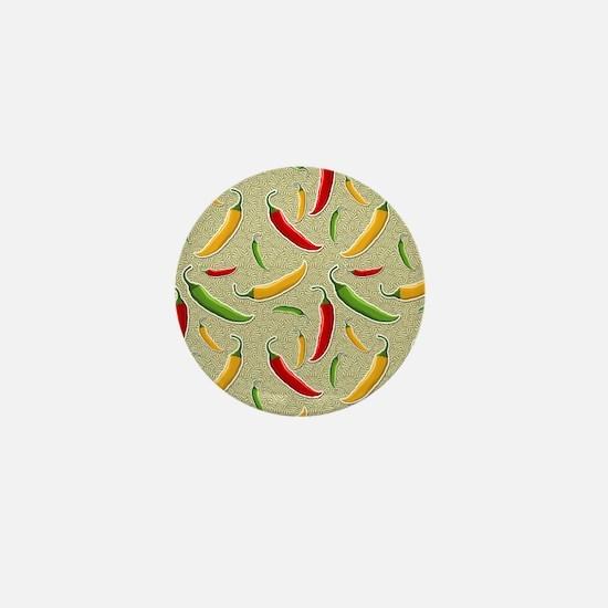 Raining Peppers Mini Button
