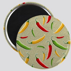 Raining Peppers Magnet