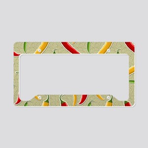Raining Peppers License Plate Holder