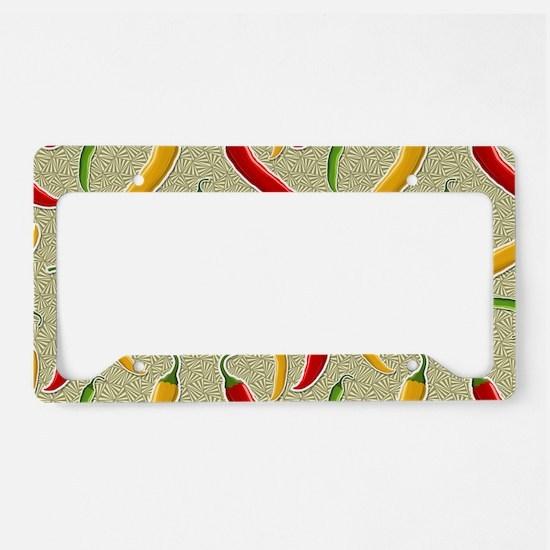 Raining Peppers License Plate Holder