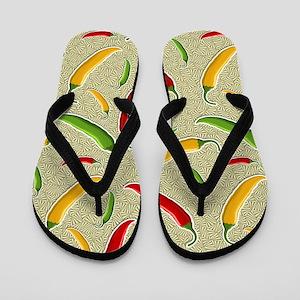 Raining Peppers Flip Flops