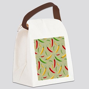 Raining Peppers Canvas Lunch Bag
