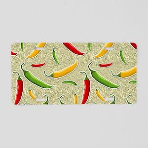 Raining Peppers Aluminum License Plate