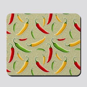 Raining Peppers Mousepad