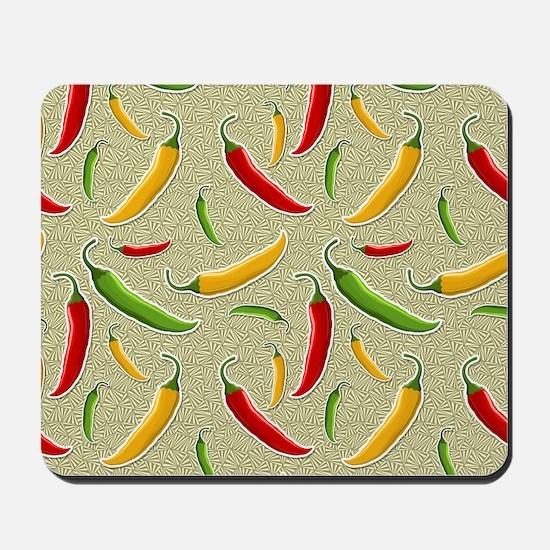 Raining Peppers Mousepad