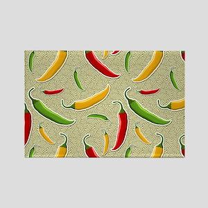 Raining Peppers Rectangle Magnet