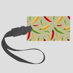 Raining Peppers Large Luggage Tag