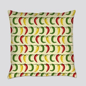 String of Chilies Everyday Pillow