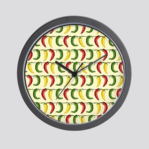 String of Chilies Wall Clock