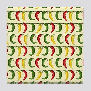 String of Chilies Tile Coaster
