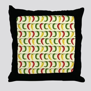 String of Chilies Throw Pillow