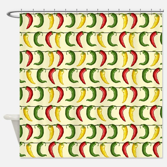 String of Chilies Shower Curtain