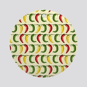 String of Chilies Ornament (Round)