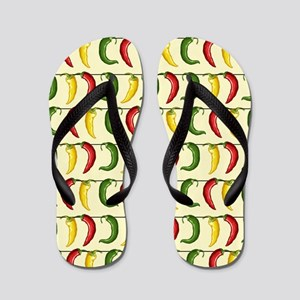 String of Chilies Flip Flops