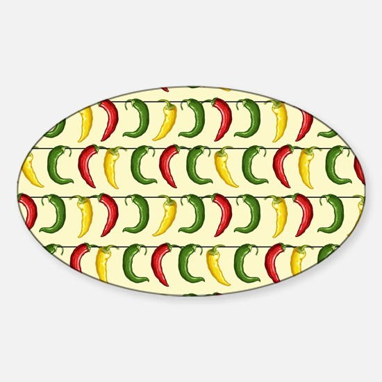 String of Chilies Sticker (Oval)