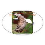 Untamed Spirit Two - Oval Sticker