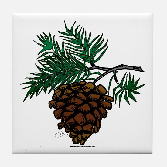 NEW! Fir Limb Tile Coaster