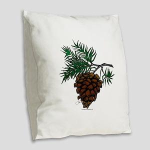 NEW! Fir Limb Burlap Throw Pillow