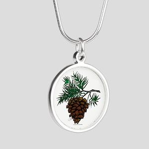 NEW! Fir Limb Silver Round Necklace