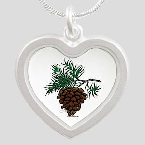 NEW! Fir Limb Silver Heart Necklace