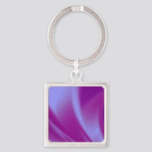 Veils of Purple Fractal Keychains