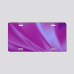 Veils of Purple Fractal Aluminum License Plate