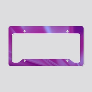 Veils of Purple Fractal License Plate Holder