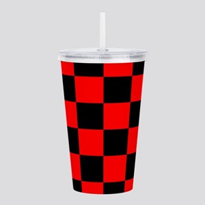 Bright red and black c Acrylic Double-wall Tumbler