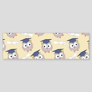 Owl Graduates Sticker (Bumper)