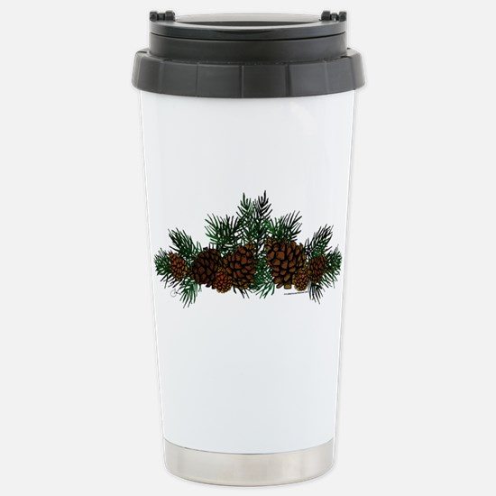 NEW! Pine Cluster Stainless Steel Travel Mug