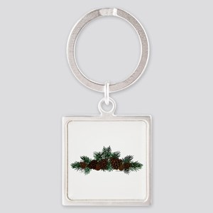 NEW! Pine Cluster Square Keychain