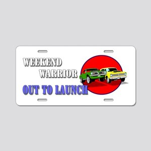 Out to Launch - Weekend War Aluminum License Plate
