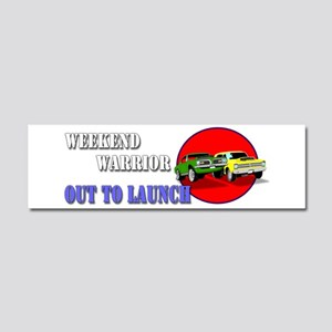 Out to Launch - Weekend Warrior Car Magnet 10 x 3