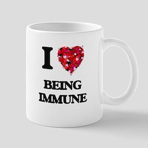 I Love Being Immune Mugs